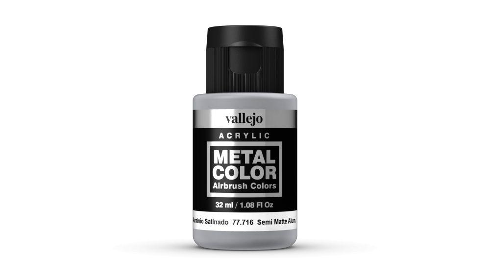 Vallejo Metal Color Semi Matt Aluminium festék 32 ml 77716