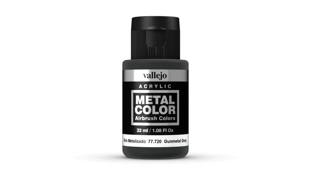 Vallejo Metal Color Gunmetal Grey festék 32 ml 77720