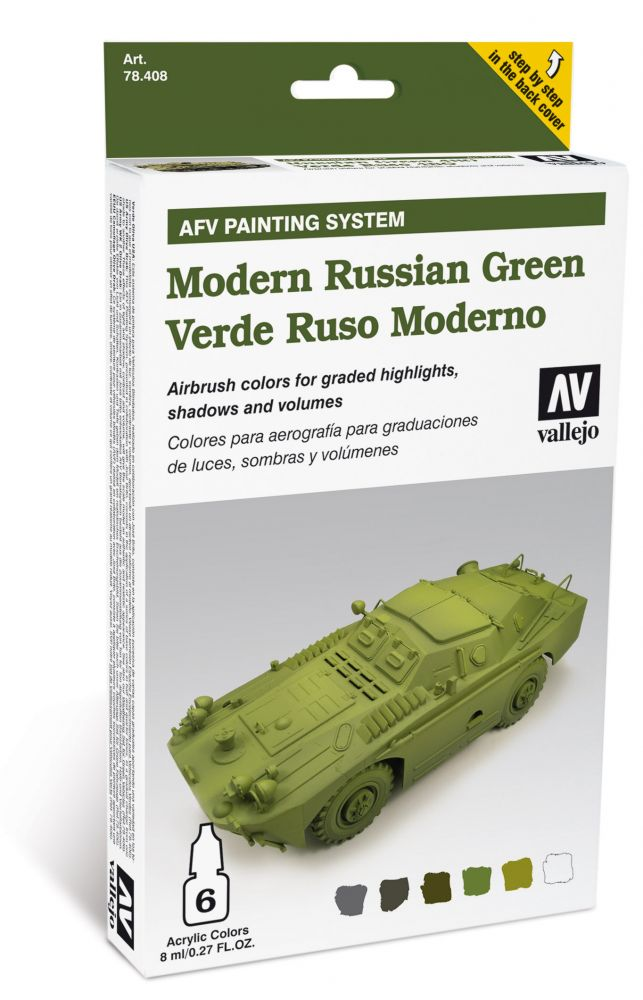 Modern Russian Green AFV painting set Vallejo 78408