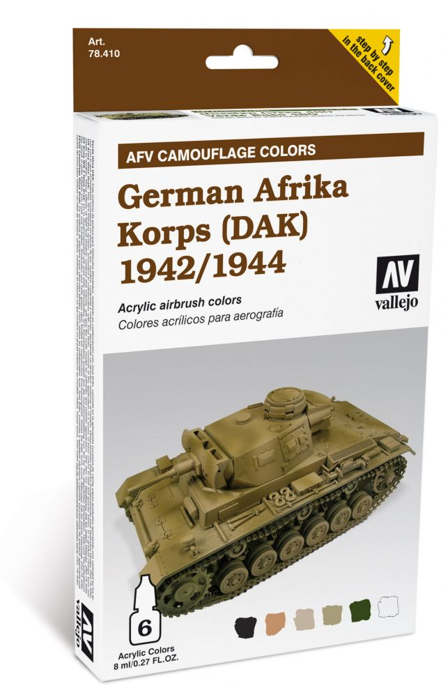 German Afrika Korps AFV painting Set Vallejo 78410