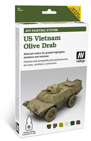 US Vietnam Olive Drab AFV painting set 78412