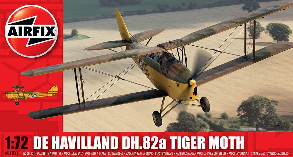 Airfix DH TIGER MOTH MILITARY repülő makett A01025