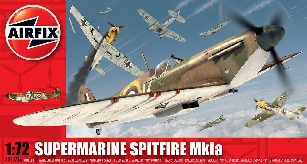 SUPERMARINE SPITFIRE MK1A repülő makett Airfix A01071A