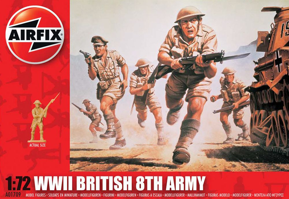 WWII British 8th Army figura makett Airfix A01709