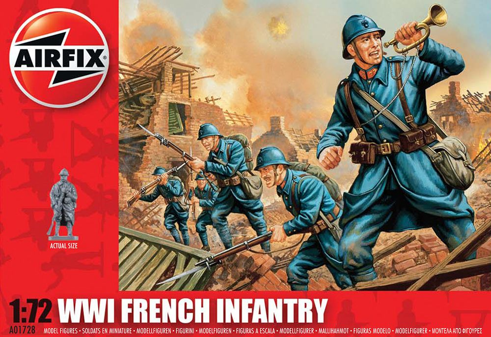 WWI French Infantry figura makett Airfix A01728
