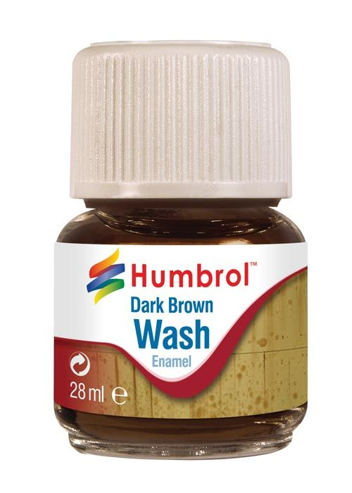 Humbrol Enamel Wash Dark Grey AV0204